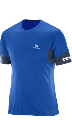 Salomon Agile Kortærmet T-shirt Herrer blå